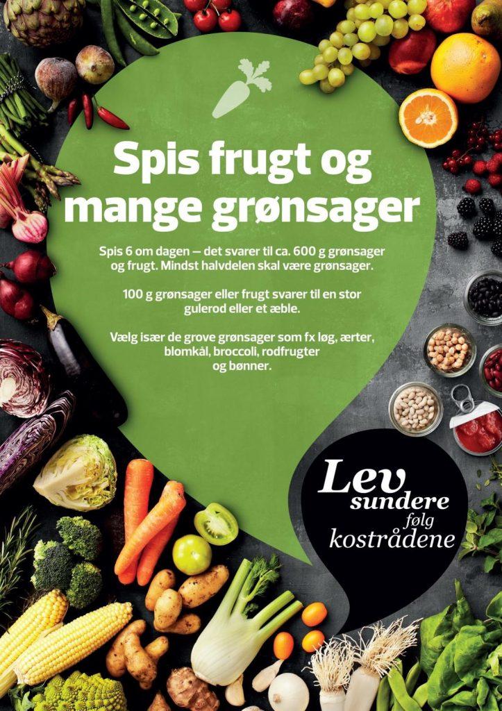 De officielle kostråd Spis frugt og mange grøntsager